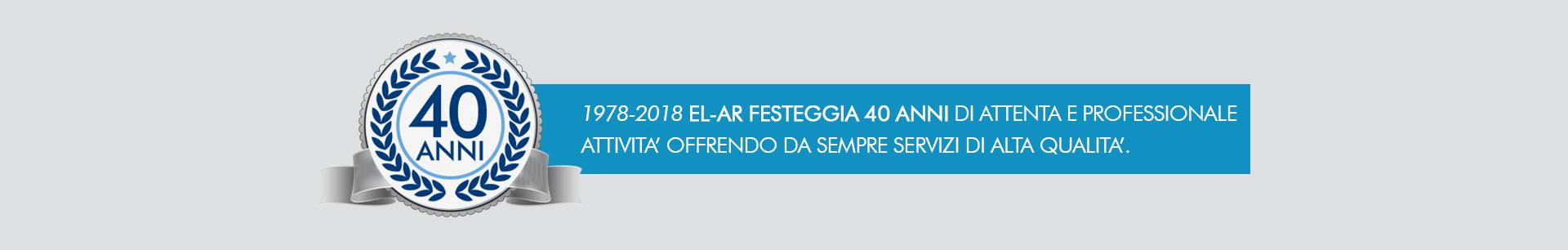 40 ANNI DI ESPERIENZA NELL AUTOMAZIONE INDUSTRIALE - EL-AR AREZZO